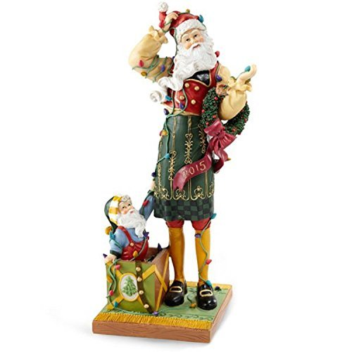 Pencil Figurines Santa (Lenox Christmas 2015 Annual Pencil Santa Figurine Santa's Merry Mix Up Elf)