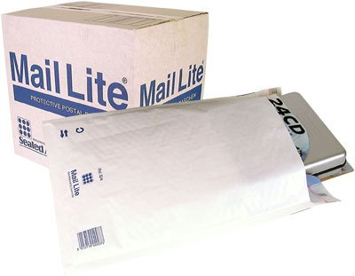 50 Mail Lite - G/4 - JL4 - Padded Envelopes 240 x 330mm - 9.25' x 12' (Box of 50) - White Sealed Air 103005502