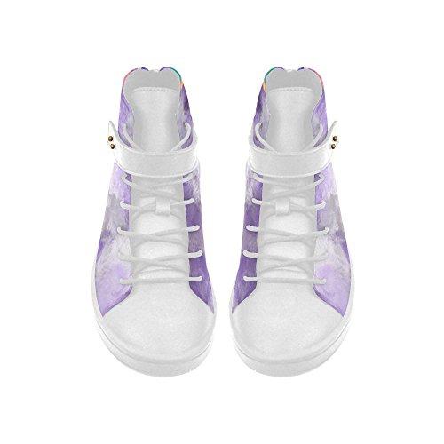 D-story Bout Rond Haut Haut Chaussures Lavande Nuages baskets Femmes