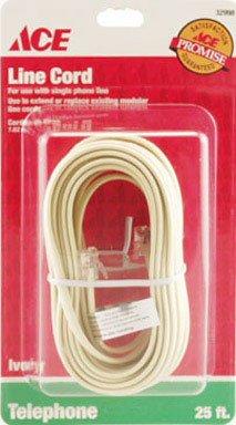 Round Phone Line Cord - Ace Modular Telephone Line Cord (32998)