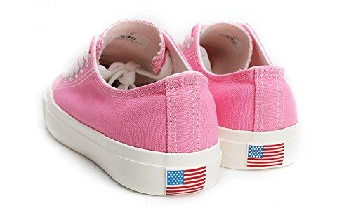 Scarpe Da Ginnastica Di Moda Per Uomo E Donna Rosa Domba Allacciate Rosa Bandiera Americana Domba