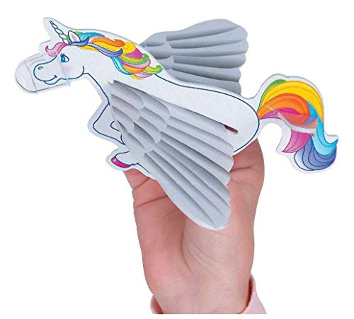 24 Flying Unicorn Gliders Airplane Mythical Rainbow Kid's Birthday Party Favors by
