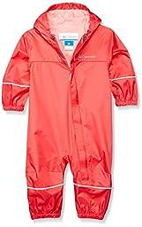Columbia Baby Snuggly Bunny Rain Suit, Bright Geranium, 0-3 Months
