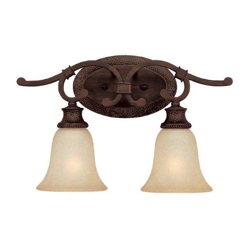 Capital Lighting 1882BB-252 Vanity with Mist Scavo Glass Shades, Burnished Bronze - Glass Mist Scavo