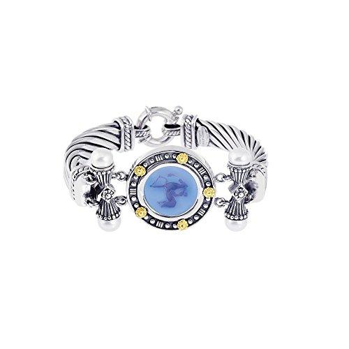 Argent Sterling 18 carats 18 Bluino Bracelet JewelryWeb 7,5 cm