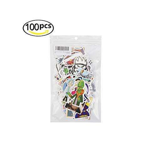 3Tyto store Sticker 100 pcs Random fashion cartoon waterproof Hard Hat, Tool Chest, Lunch Box ETC Stickers by 3Tyto (Image #1)