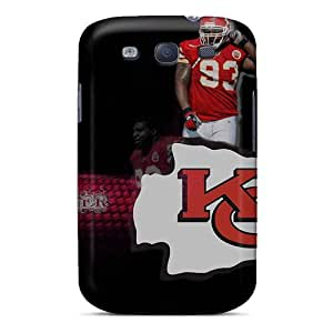 Bumper Hard Cell-phone Cases For Samsung Galaxy S3 With Unique Design Attractive Kansas City Chiefs Pictures MansourMurray