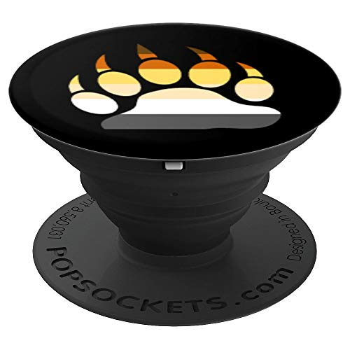 Gay Bear Pride Flag Paw Print - PopSockets Grip and Stand for Phones and Tablets
