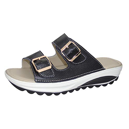 Summer Beach Slipper for Women Casual Sandals Peep Toe Platform Soft Shoes Toponly