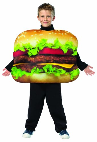 [Rasta Imposta Get Real Cheeseburger Childrens Costume, 7-10, Multicolor] (Childrens Food Halloween Costumes)