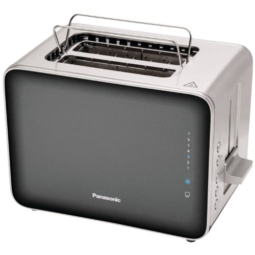 Panasonic NT-ZP1H Breakfast Collection 2-Slice Toaster, Stainless Steel & Smoke