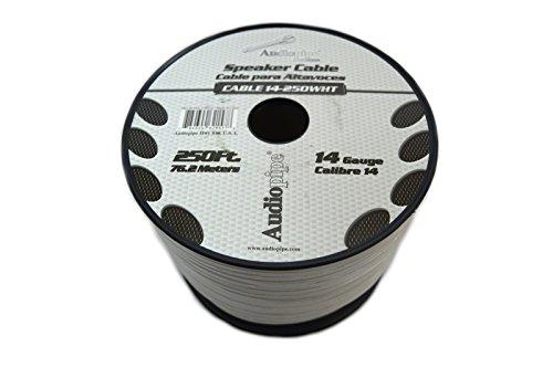 Speaker Wire 14 GA White Stranded Copper Clad 250 Feet Home Audio Surround Sound by Audiopipe (Image #2)