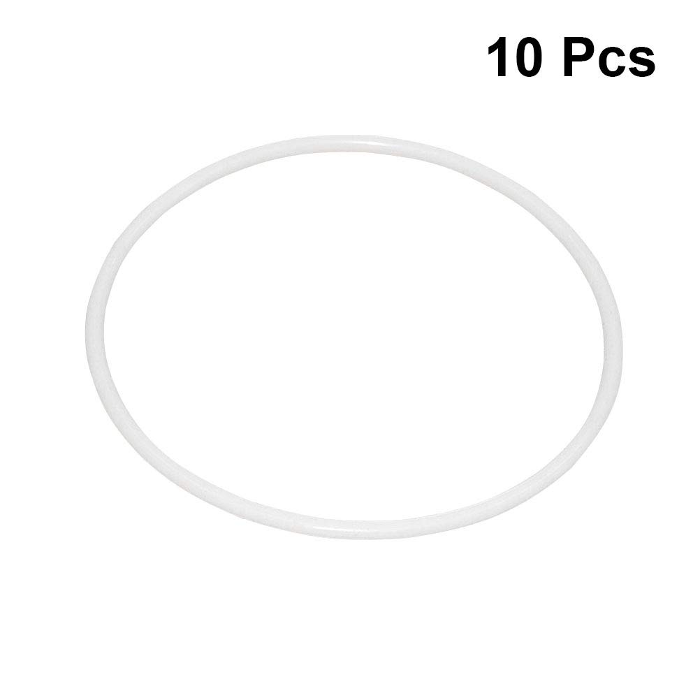 VOSAREA 10Pcs 8.5cm Dreamcatcher Round Hoop White Plastic Ring Wrapping Circle Plastic Circle for DIY Manual Handmade Wicker Crafts