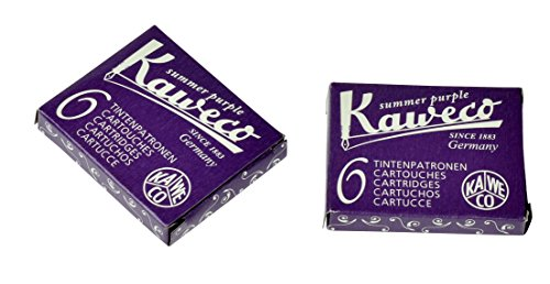 Kaweco Fountain Pen ink cartridge short purple violet - pack of 6