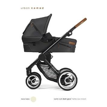 """'mutsy """"Evo Urban Dark Grey cochecito Completo: Chassis Negro, Bañera"""