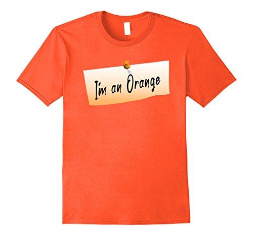 Mens Orange Costume Funny Lazy Citric Shirt Fruit Humor Medium Orange