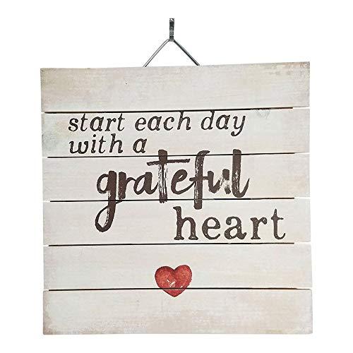 Imprints Plus Grateful Heart Wood Sign, 12