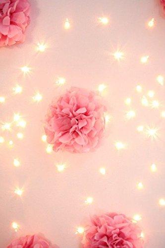 CUTADORNS 12pcs 10 inch 8inch Tissue Paper Pom-poms Baby pink Cream Tan Outdoor Decoration Tissue Paper Pom Poms Party Balls Wedding Christmas Xmas Decoration Baby pink Cream Tan