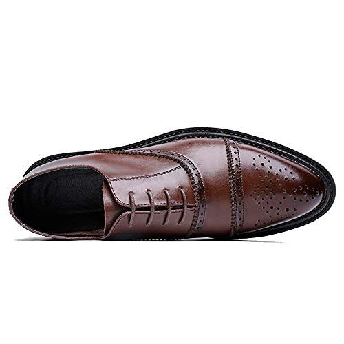 Fashion For Casual Brogue Classic Shoes color Ruiyue Colors Marrón Oxford Retro Marrón Brush Business Tamaño Gentlemen 38 Eu qAwngFft