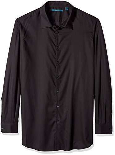 Perry Ellis Men's Essential Big and Tall Plaid Pattern Shirt, Licorice, -
