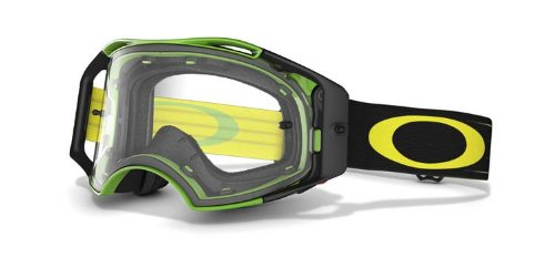 Oakley Airbrake MX Goggles (Green, Yellow Retro Speed Frame/Clear Lens)