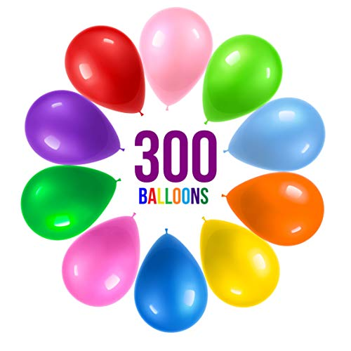 Prextex 300 Party Balloons 12 Inch 10 Assorted
