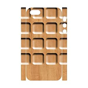 Cool Painting Wood Print Custom 3D Cover Case for Iphone 5,5S,diy phone case case-295400 wangjiang maoyi