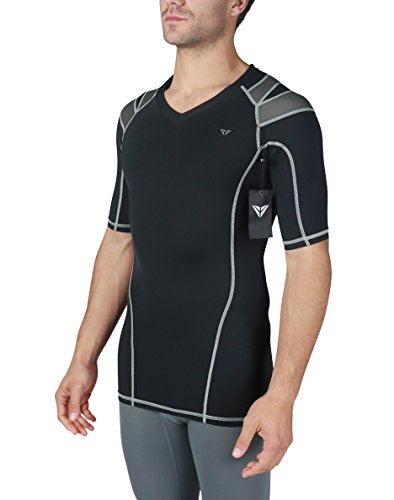 IntelliSkin Men's Foundation Vtee - Newest Posture Correcting Performance Shirt -