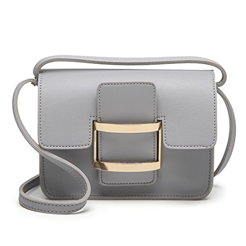 Lightgrey Crossbody Hobo Messager Womens Handbag Luckywe with Lock Shoulder Leather 7IvXz7wqpx