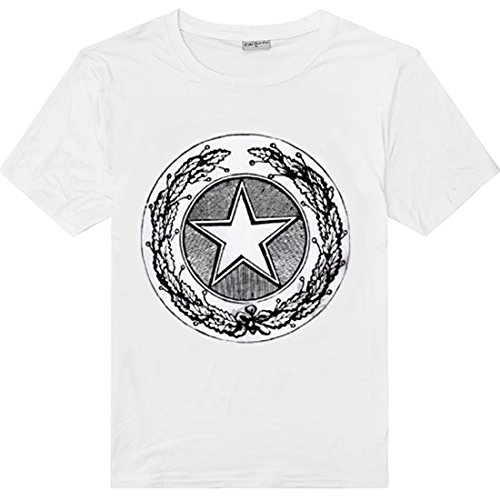 Cloth Ideas Men's Graphic T-Shirt -Mysterious Geometry (S, white)