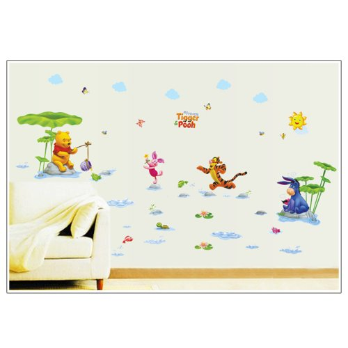 Pooh Mural - Gadfly- Waterpark Winnie the Pooh Peel & Stick Nursery/baby Wall Sticker Decal