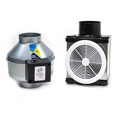 Fantech PB190 Series Small 7 Grille Width 12, Height 11, Depth 23, USA, Inline Bath Fan Kit, Low Noise (Low Sone), 190 CFM, Remote mount fan, Small 7 Grille by Fantech