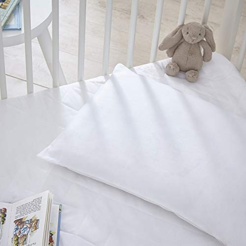 Baby Cot Pillow with 100/% Egyptian Cotton Cover 2-Pack Rohi Baby Toddler Cot Pillow Set White 40x60cm Toddler Bedding Small Pillow