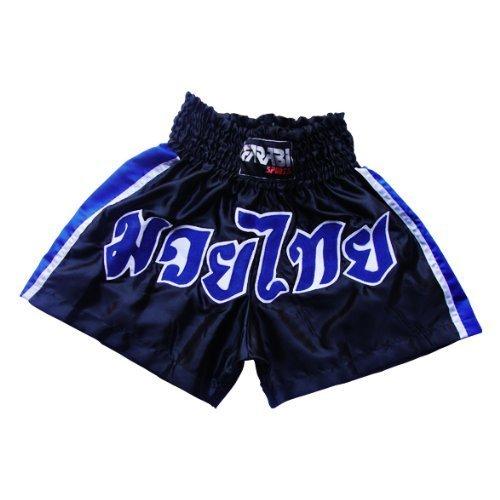 Muay Thai Shorts Kick Boxing Martial Arts MMA Blue (L)