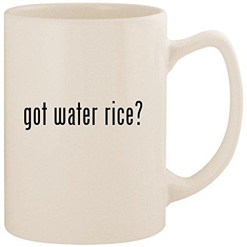 got water rice? - White 14oz Ceramic Statesman Coffee Mug Cup
