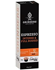 Grinders Coffee Caffitaly Compatible Capsules, 80 Espresso Capsules