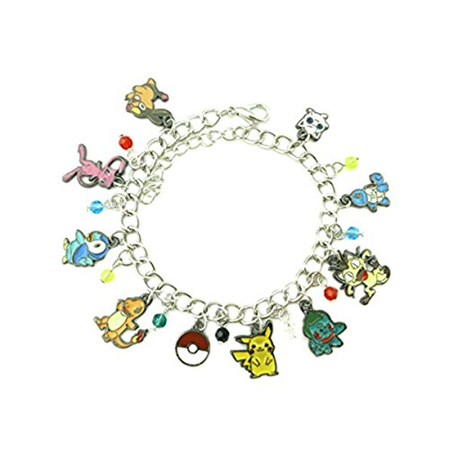 US FAMILY PokeMon Game Anime Theme Multi Charms Jewelry Bracelets Charm by Family Brands -