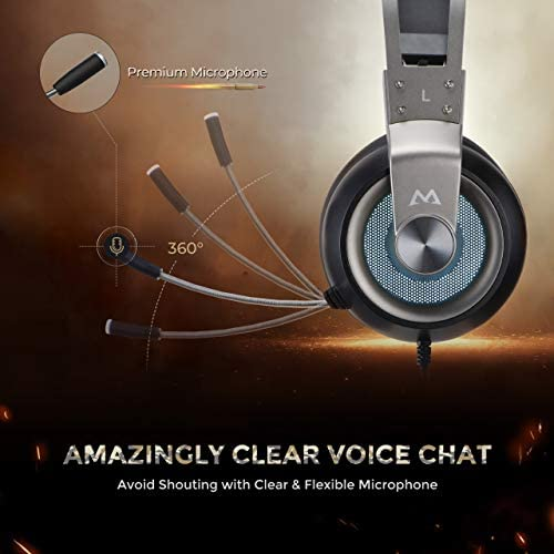 Mpow EG3 Pro – Over-Ear Gaming Headset for PC,PS4,Xbox One, Nintendo Switch,3D Surround Sound,Noise Cancelling Mic&Soft Memory Earmuff 419DMGkf0qL