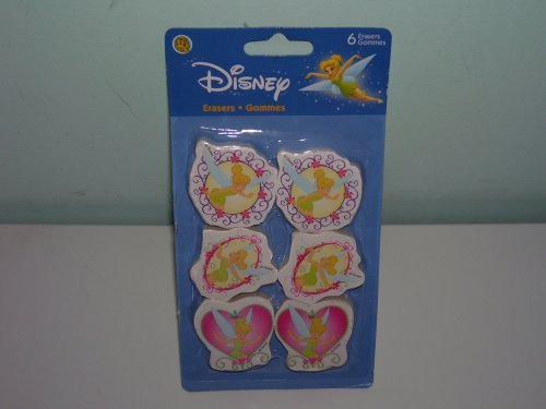[6 Disney Tinkerbell Erasers] (Tinkerbell Erasers)