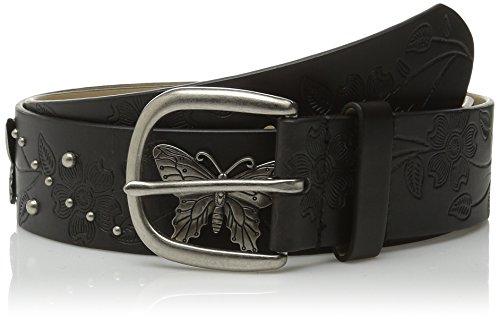 Relic Women's Butterfly Ornament Belt, Black, Small