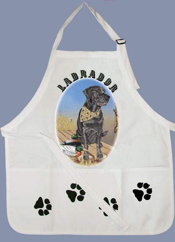 PIPS001 Animal Pet Gifts, Labrador Black Apron