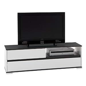 FMD 253-001 Smart - Mueble para televisor o sistema de audio y vídeo (125 x 40,5 x 39 cm), color blanco y gris