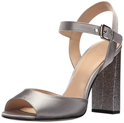 Guess Women's DEDEE Heeled Sandal, Grey, 7 Medium US (Strap Guess Sandals Ankle)
