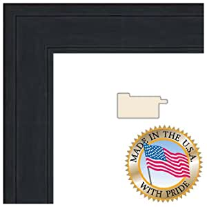ArtToFrames 20x24 Black Stain on Pine Picture Frame 1.5 Inches Wide 0066-80206-YBLK