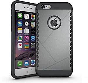 Fashion Ultra Thin TPU Rubber Gel PC Protective Case Cover For iPhone 6 Plus Gray