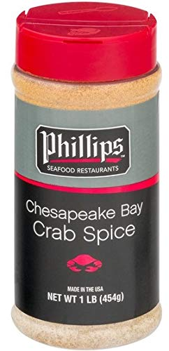 (Phillips Seafood Chesapeake Bay Crab Spice, 16oz Shaker)
