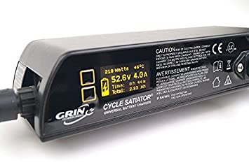 Cycle Satiator - Programmable Electric Bike Battery Charger - 24, 36, 48, 52