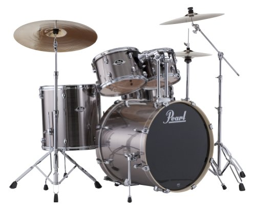 Pearl EXX725S/C 5-Piece Export New Fusion Drum Set with Hardware - Smokey Chrome - New Looks Pearl