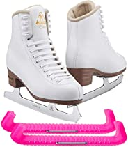Jackson Ultima Excel White Figure Ice Skates for Women and Girls - Improved, JUST LAUNCHED 2019
