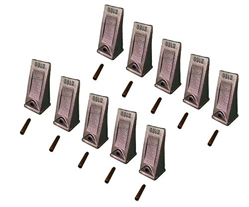- 10 - Hensley Style Mini Excavator Standard Dirt Bucket Teeth & Pin - X156S, P156